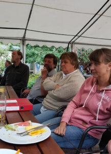 rechte Tischseite - Werner, Harald, Birgit, Sabine
