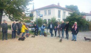 Unsere Gruppe macht einen Rundgang auf der Insel Werder (Havel)